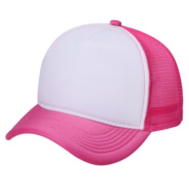 Boné Trucker Pink c/ frente branca liso