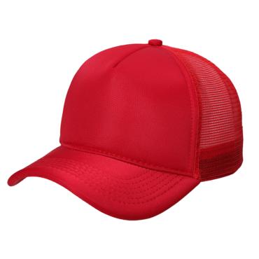 Boné Trucker Vermelho Liso