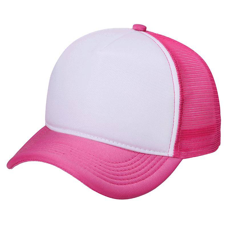 Boné Trucker Pink c  frente branca liso  f2441b44207