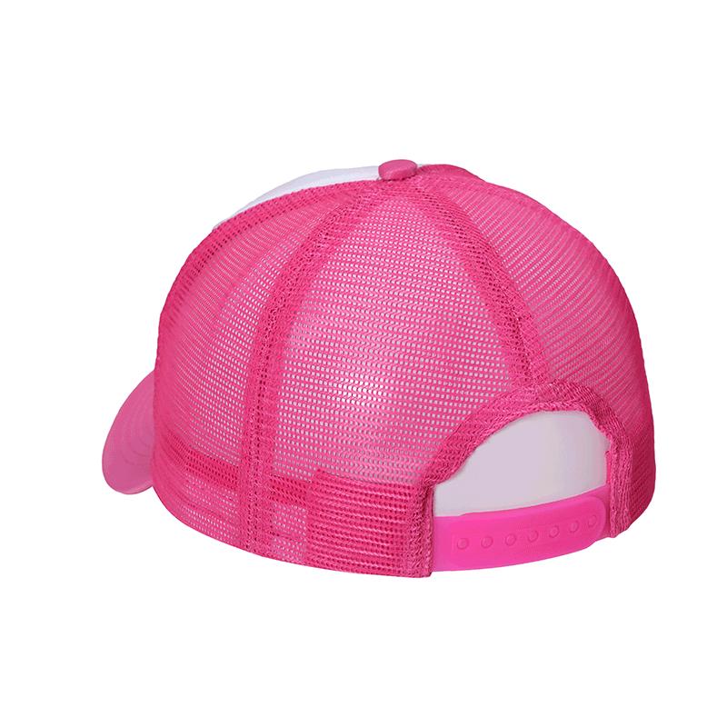 d7694b52640f4 Boné Trucker Pink c  frente branca liso. New!
